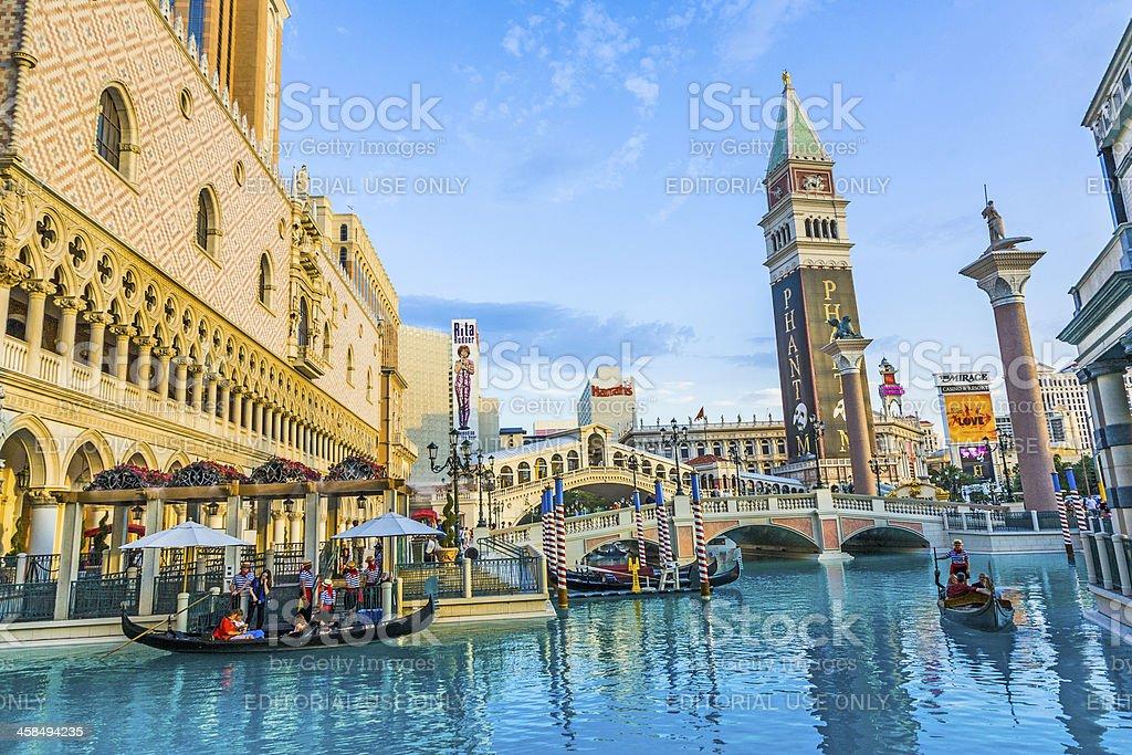 Venice scenery in las Vegas at the Venetian stock photo