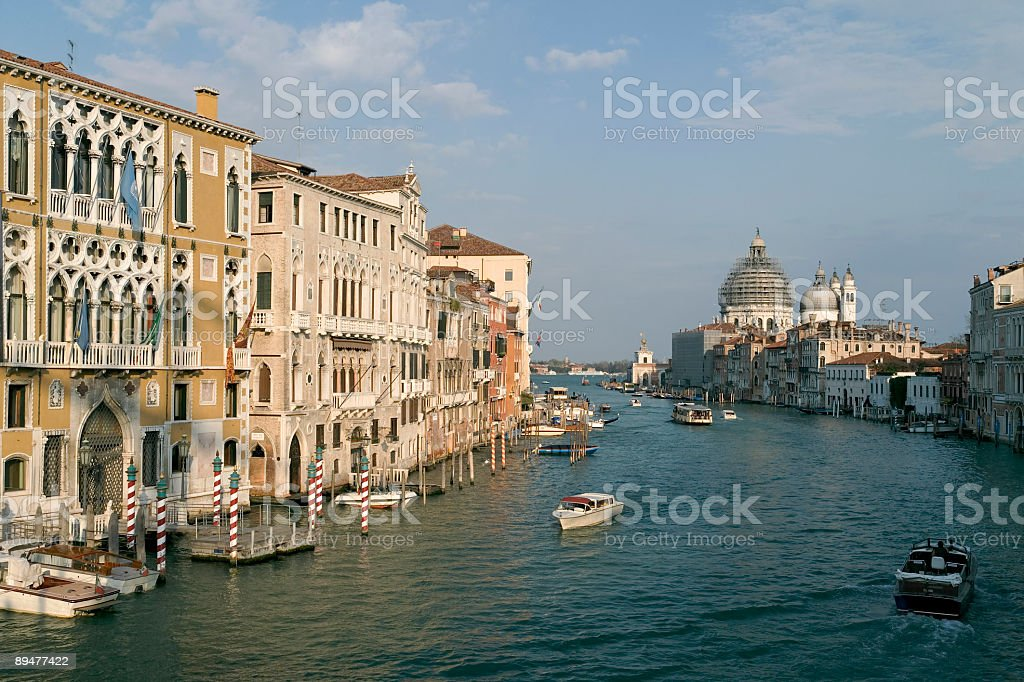 Venice scenery with palaces at Grand Canal (XXL) royalty-free stock photo