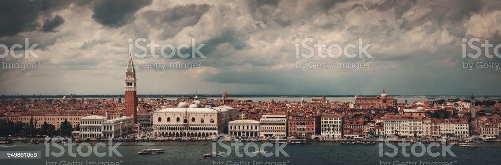 Venice skyline panorama stock photo