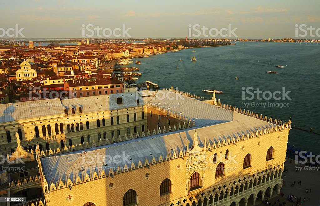 Venice skyline. royalty-free stock photo