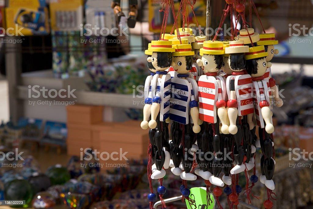 Venice Souvenir gondolier royalty-free stock photo