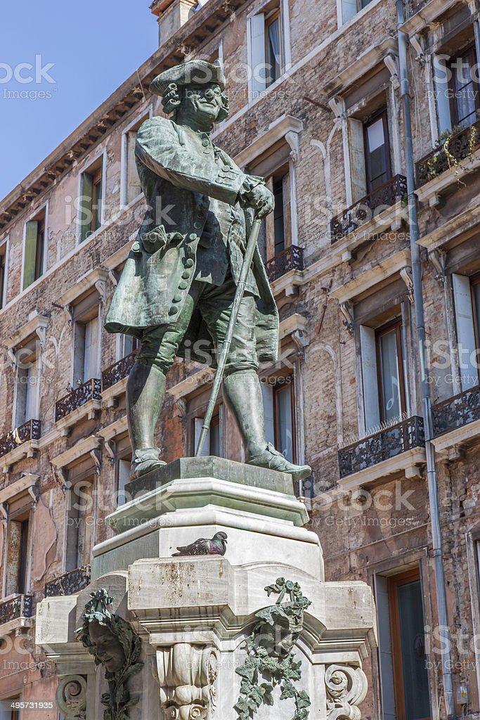 Venice -  Statue of Italian librettist Carlo Goldoni royalty-free stock photo
