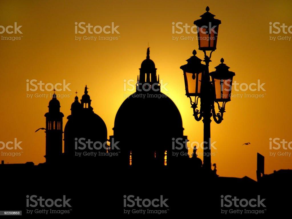 Venice sunset 1 royalty-free stock photo