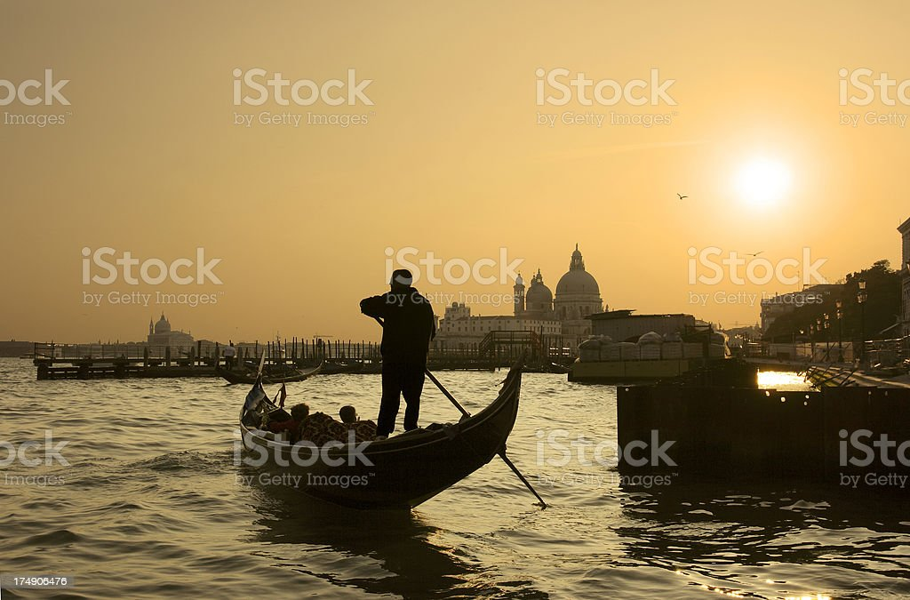 Venice Sunset royalty-free stock photo