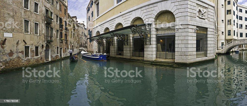 Venice Teatro La Fenice gondola panorama Italy.jpg royalty-free stock photo