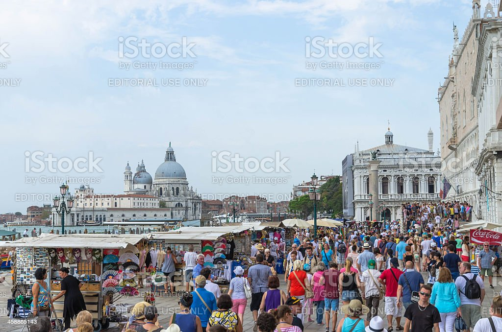 Venice tourism in summer royalty-free stock photo