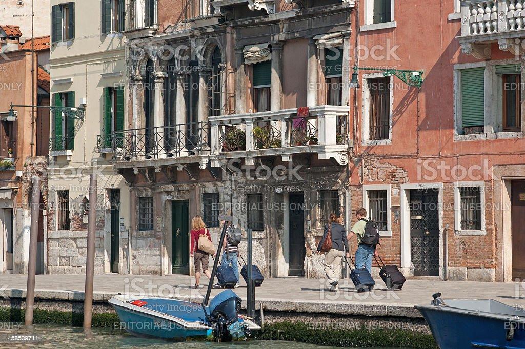 Venice Tourists stock photo