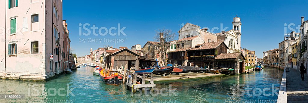 Venice traditional boat yard royalty-free stock photo