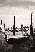 venice veneto venetian venezia vintage gondola italia black & white