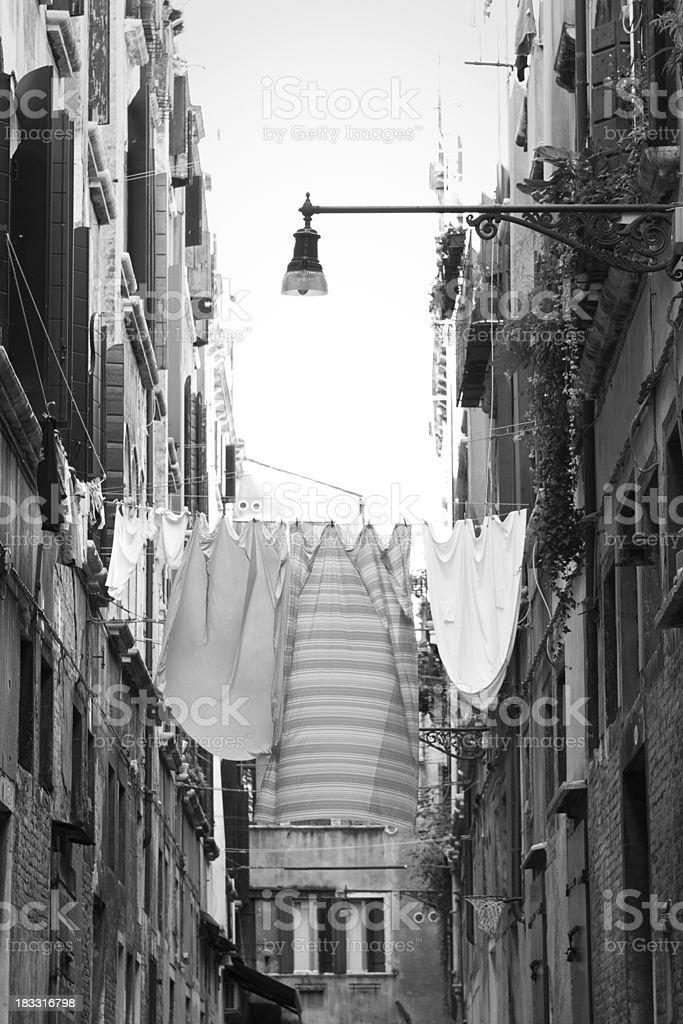 Venice Washing Line stock photo