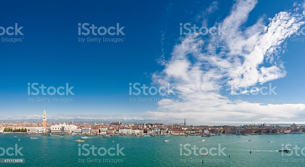 Venice waterfront cloudscape royalty-free stock photo