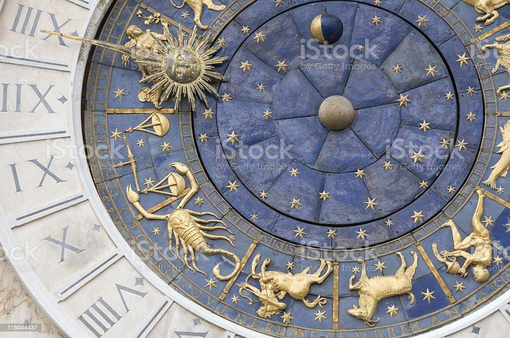 Venice zodiacal clock royalty-free stock photo