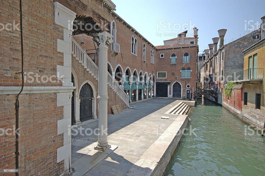 Venice's fishmarket royalty-free stock photo