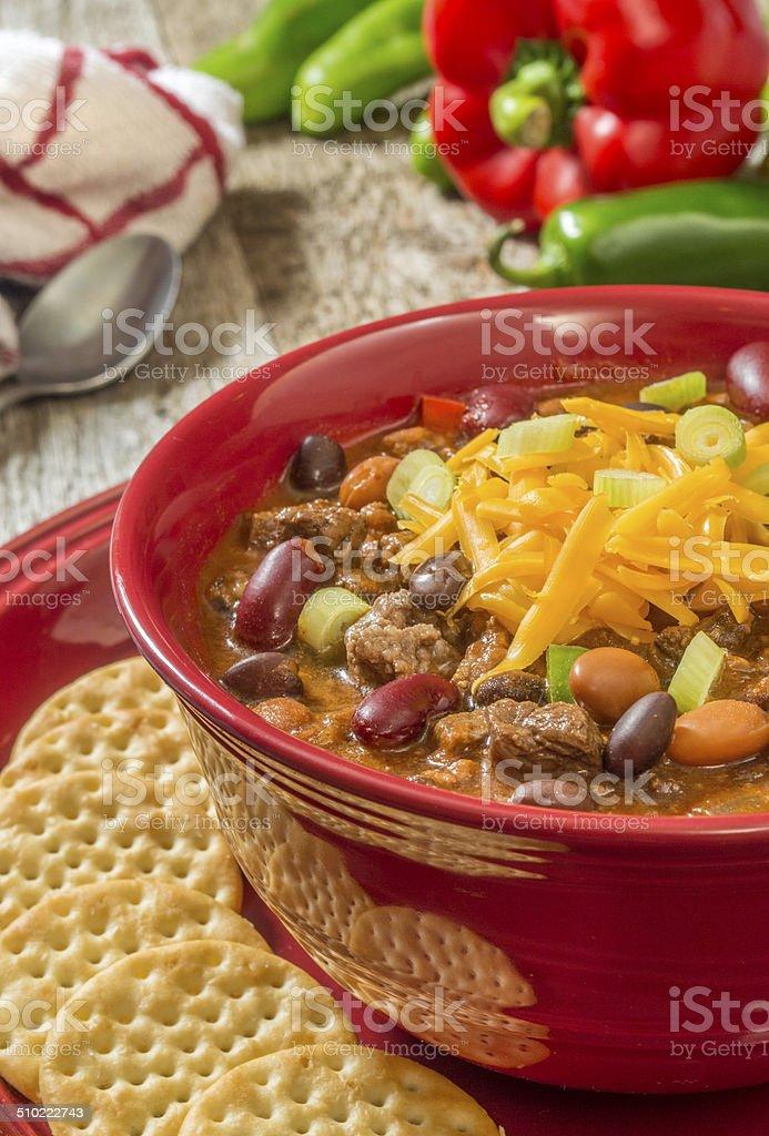 venison chilli stock photo