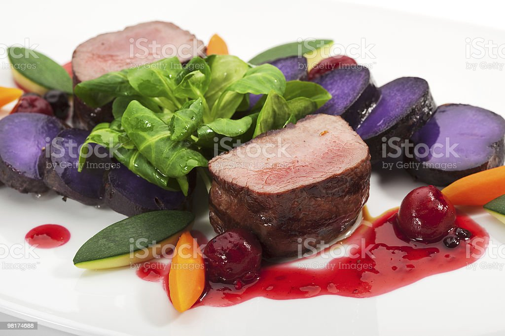Venison Dish royalty-free stock photo