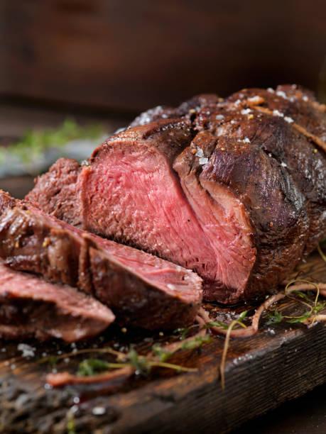 Venison, Elk Sirloin Tip Roast Venison, Elk Sirloin Tip Roast beef stock pictures, royalty-free photos & images