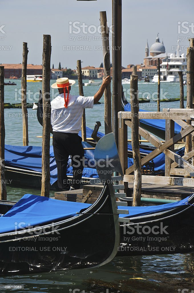 Venitian Gondolier royalty-free stock photo