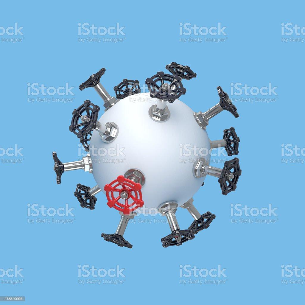ventil concept stock photo