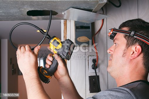 istock Ventilation Cleaner - at Work 160933256