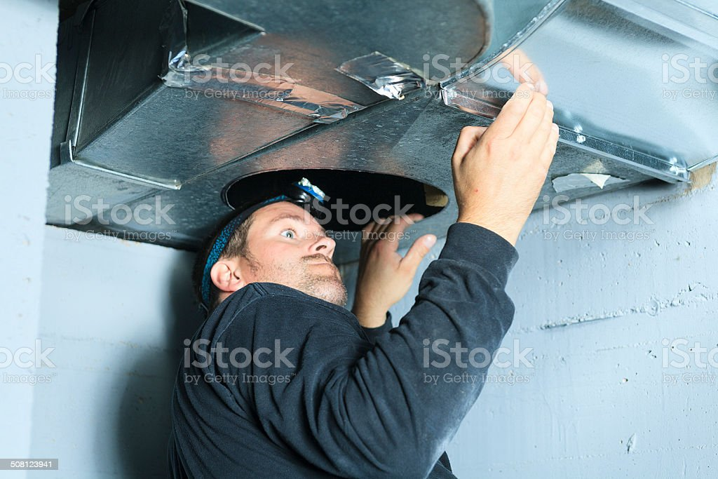 Ventilation Cleaner - Check stock photo
