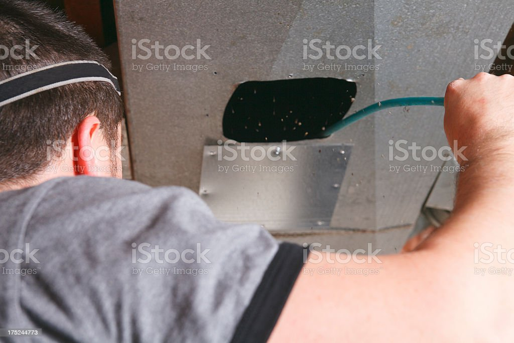 Ventilation Cleaner royalty-free stock photo