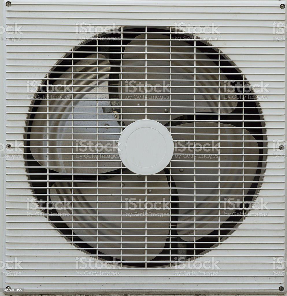 Ventilation fan of air conditioner royalty-free stock photo