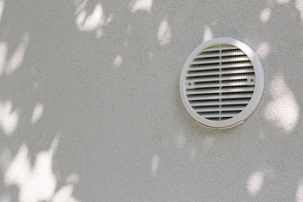 Ventilation hole in the house. stock photo