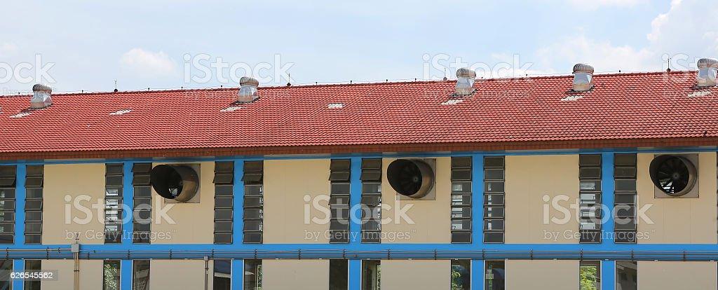 Ventilation of building stock photo