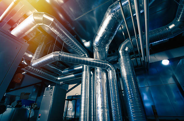 Belüftung pipes einer Klimaanlage  – Foto