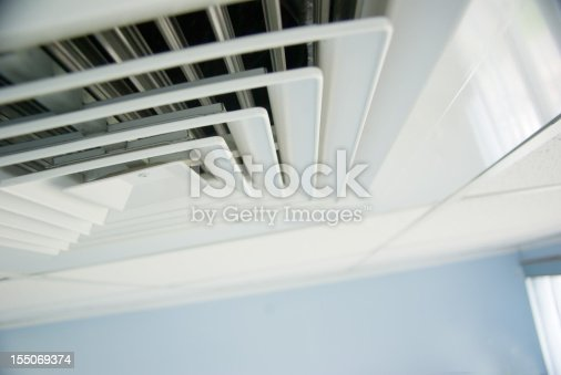 Ventilation System Air Condition Vent In Office Ceiling