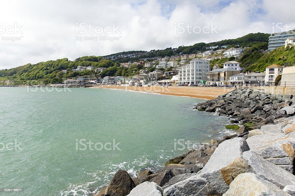 Ventnor beach Isle of Wight south coast island tourist town stock photo