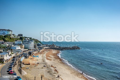 Ventnor beach on the Isle of Wight in England