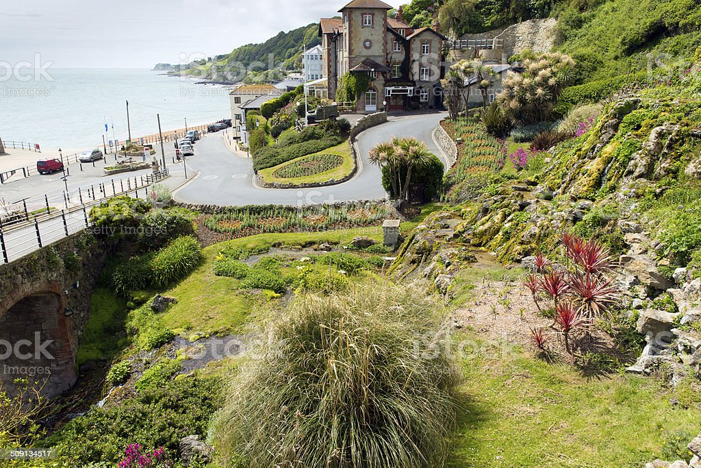 Ventnor Isle of Wight south coast island tourist town stock photo