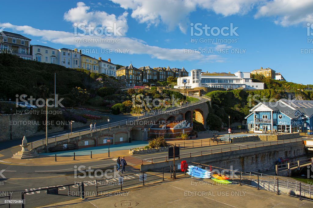 Ventnor Seafront and Wintergarden stock photo