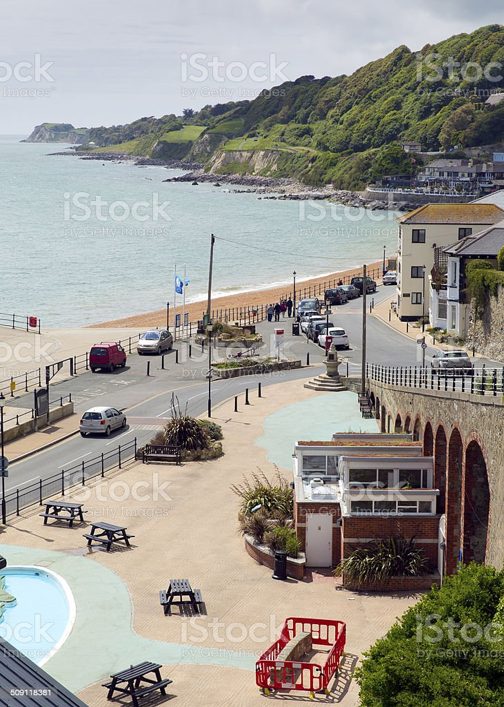 Ventnor town Isle of Wight south coast island tourist town stock photo