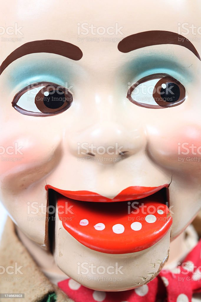 Ventriloquist's Dummy Head royalty-free stock photo