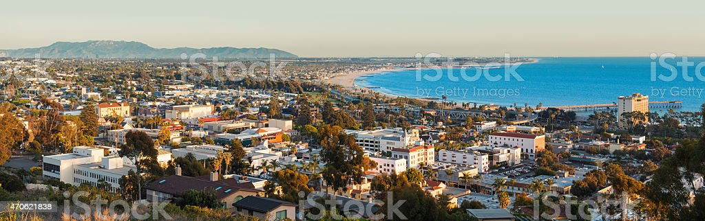 Ventura California Panoramic Cityscape stock photo