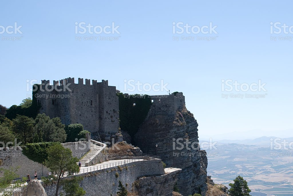 Venus Castle at Erice, Sicily, Italy stock photo