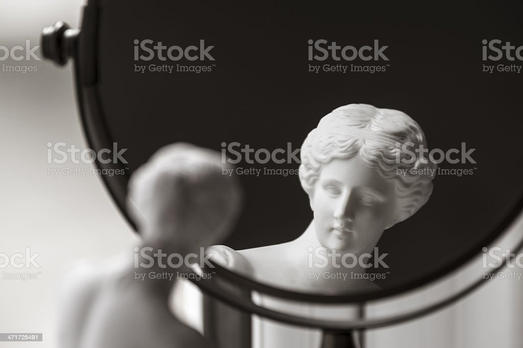 Venus de Milo and vanity mirror stock photo