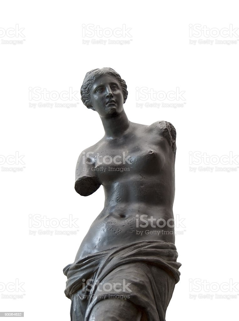 Venus de Milo in black stock photo
