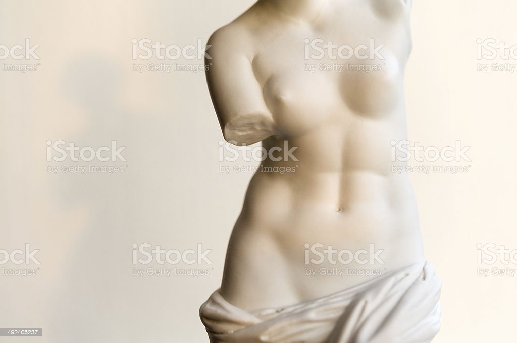 Venus de Milo in evening sunlight stock photo