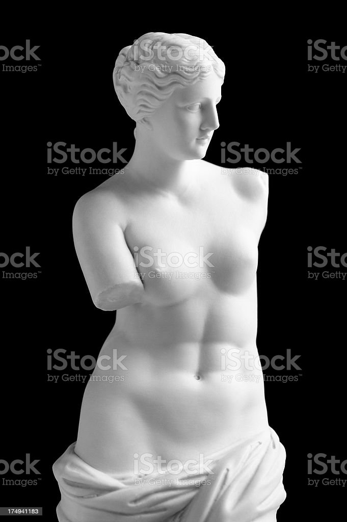 Venus de Milo on black stock photo