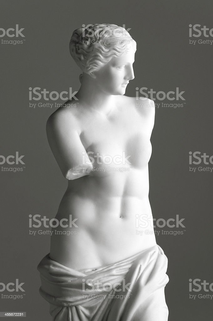 Venus de Milo on grey stock photo
