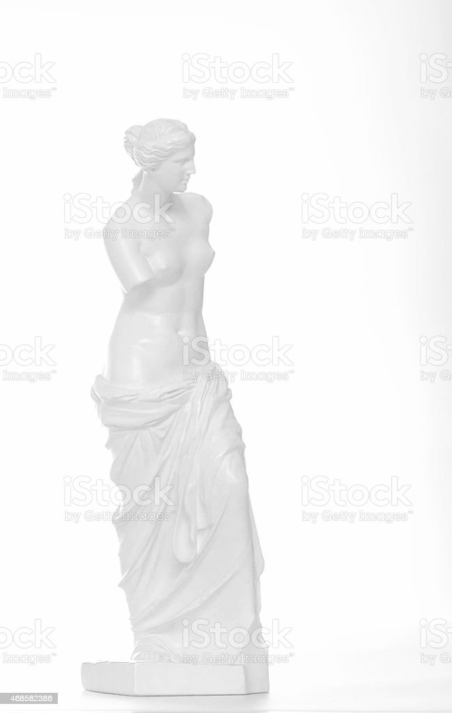 Venus de Milo statue, copy. High key. stock photo