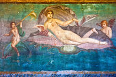 Ancient Roman fresco Venus in Pompeii, Italy