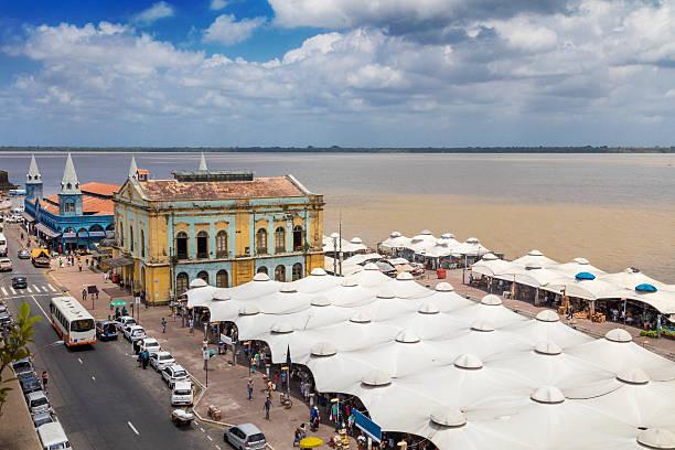 Ver o Peso Market in Belem city stock photo