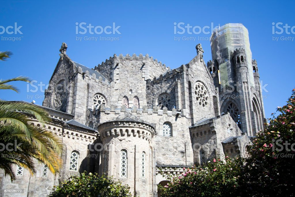 Vera Cruz church in Carballino, Ourense, Galicia, Spain. royalty-free stock photo