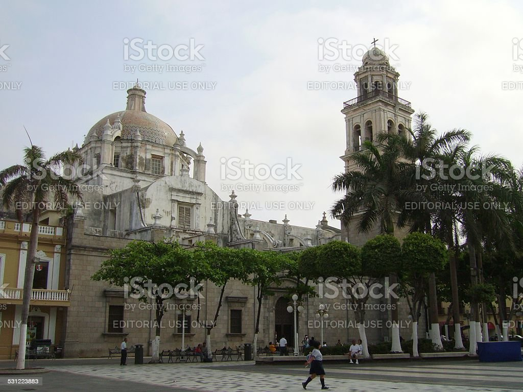 Veracruz Cathedral, Mexico stock photo