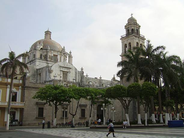 Veracruz Cathedral, Mexico stock photo