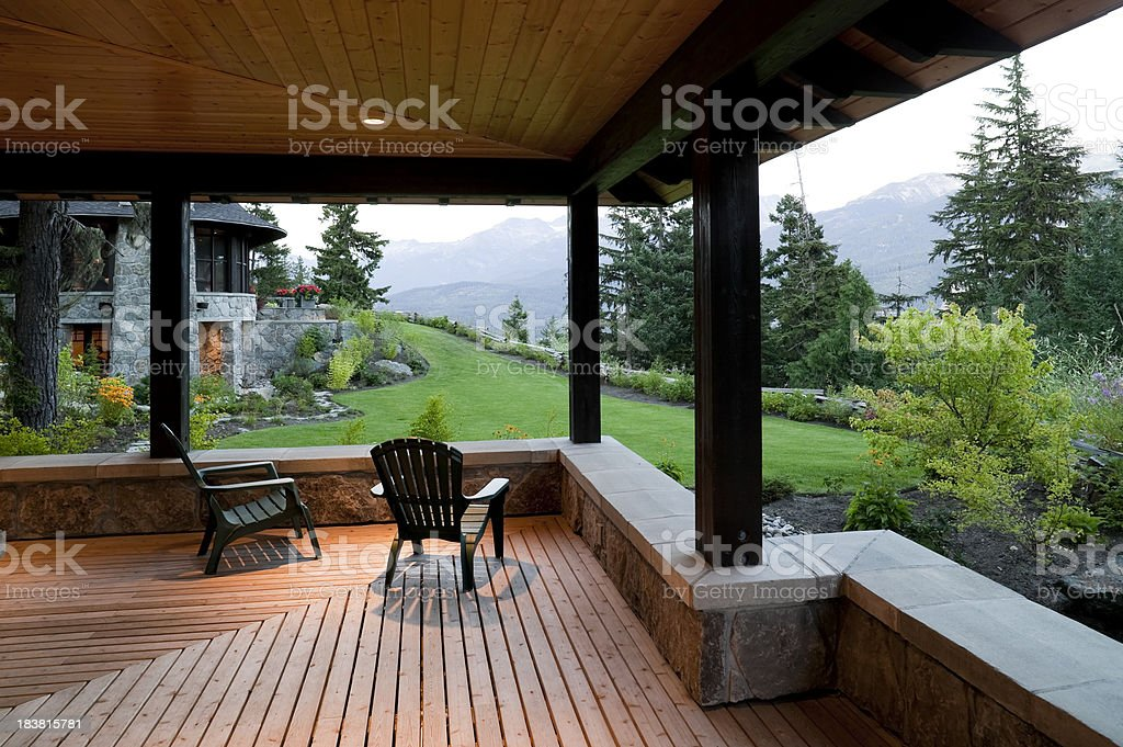 veranda house whistler stock photo